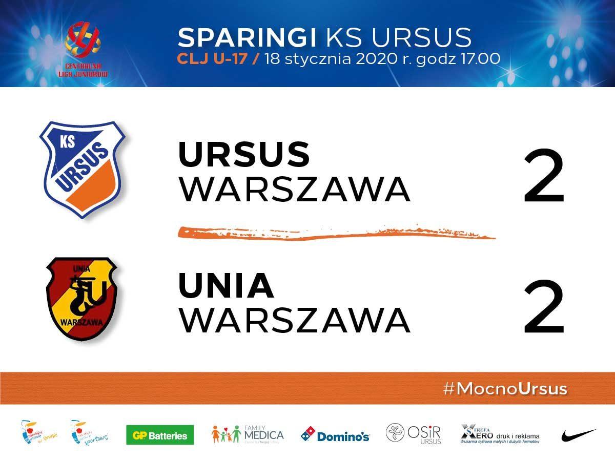 CLJ U-17 Sparing z Unią Warszawa