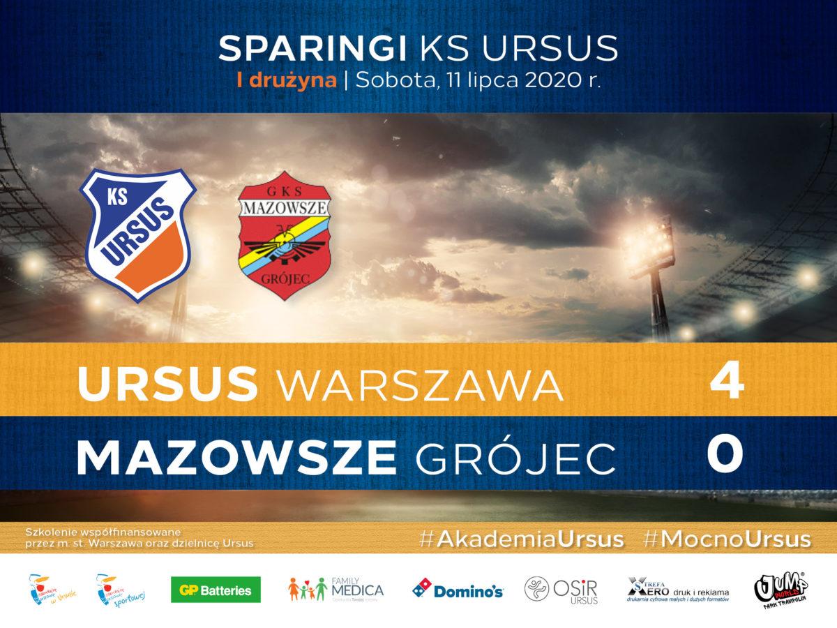 Sparing Ursus vs Mazowsze Grójec