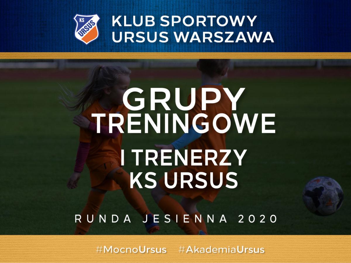Grupy treningowe i trenerzy KS Ursus