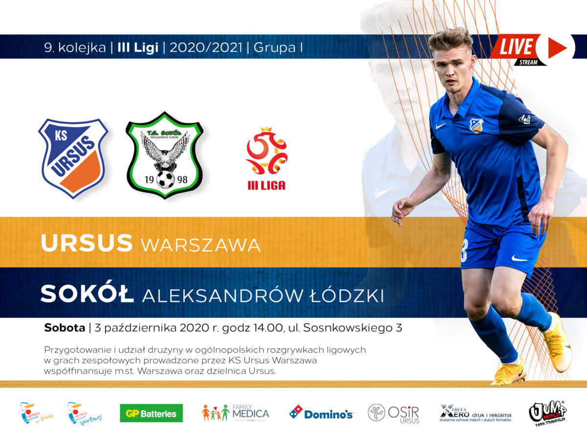 Ursus Warszawa vs Sokół Aleksandrów Łódzki na żywo