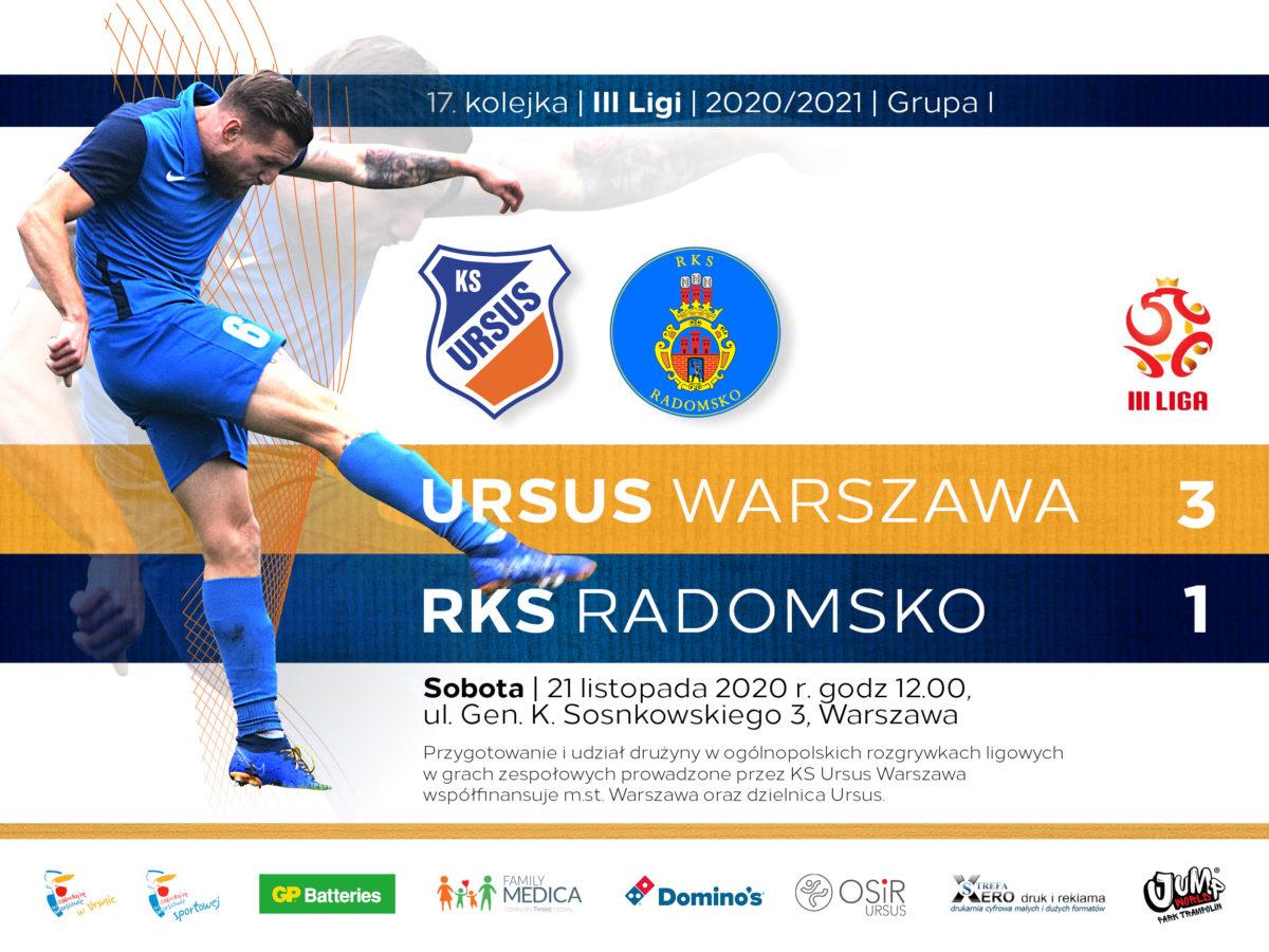 Ursus Warszawa vs RKS Radomsko