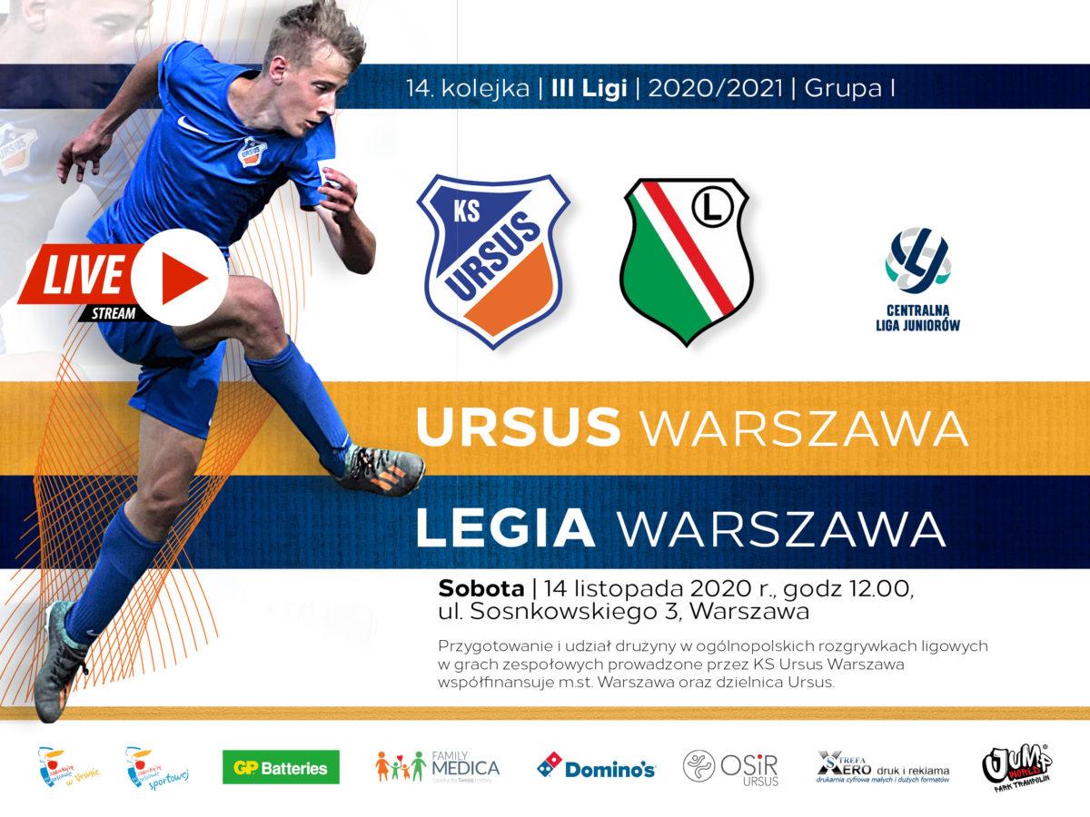 Ursus Warszawa vs Legia Warszawa CLJ