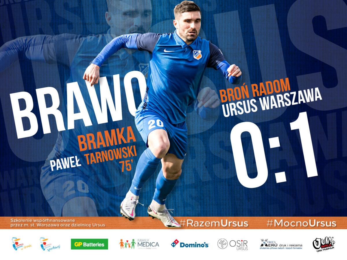 Paweł Tarnowski gol dla Ursusa