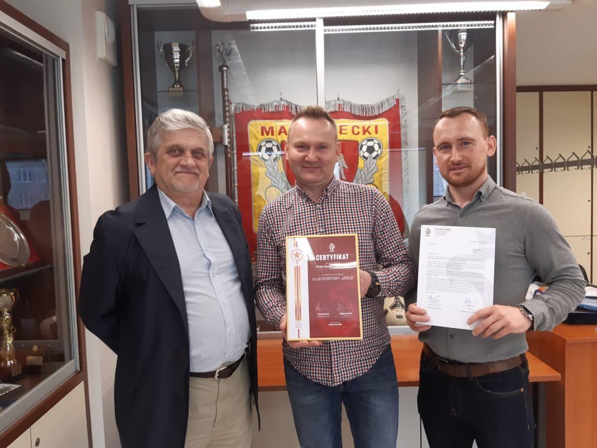 Złoty certyfikat dla KS Ursus Warszawa