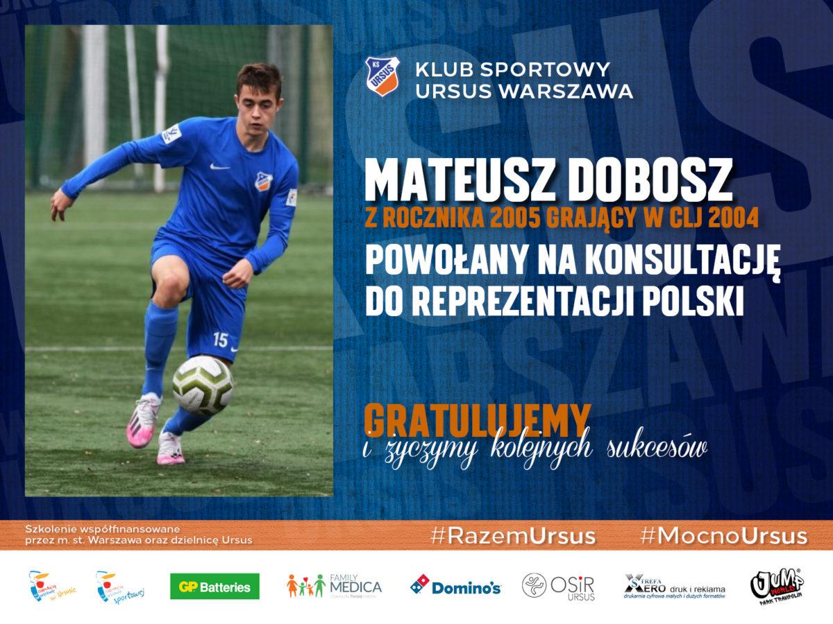 Mateusz Dobosz w reprezentacji Polski U-16