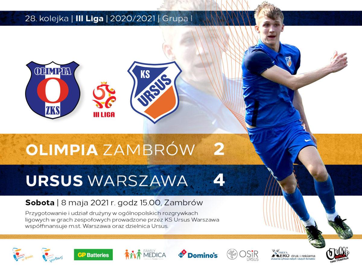 Olimpia Zambrów vs Ursus Warszawa 2:4