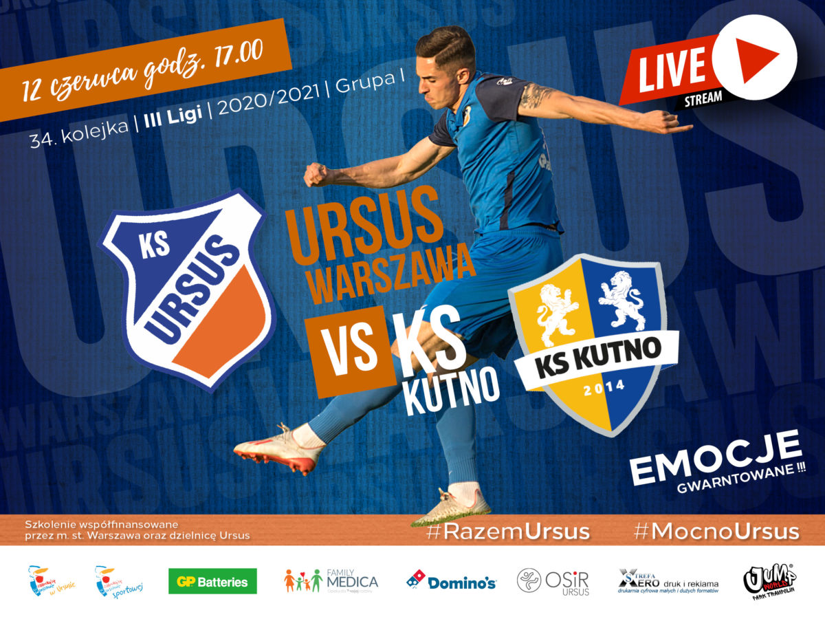 Ursus Warszawa vs KS Kutno LIVE