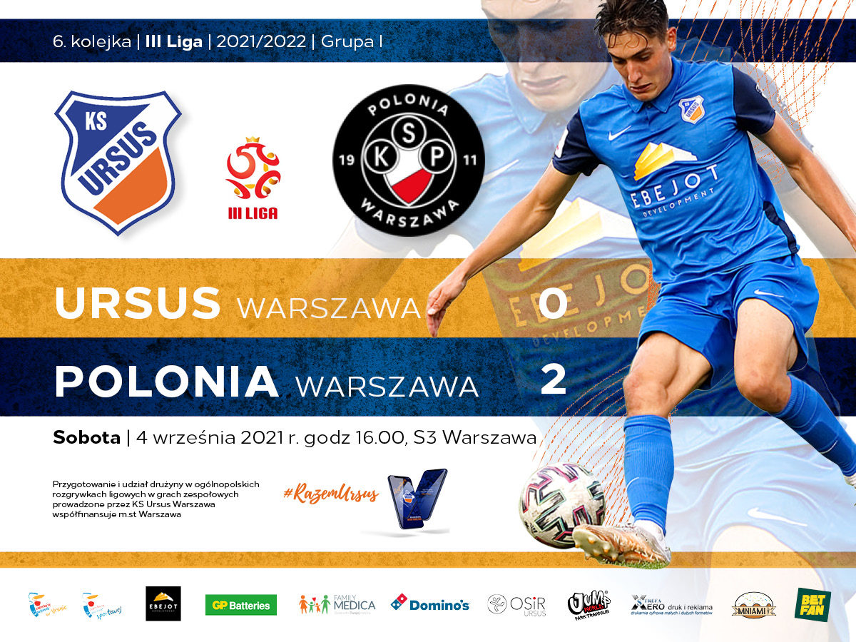 Ursus Warszawa vs Polonia Warszawa wynik