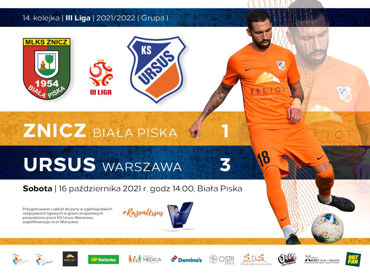 Znicz Biała Piska vs Ursus Warszawa wynik